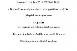 Pozvánka na Andělské dopoledne 25.4.2019